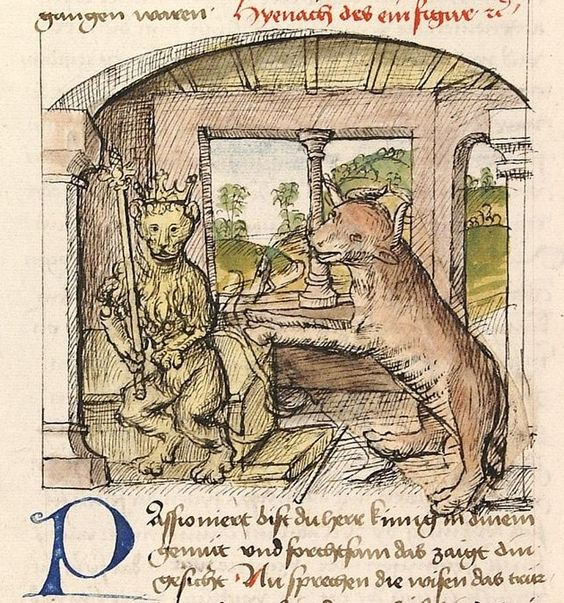 Buch der Beispiele Detail/ElementDedikationsbild: Anastres Taßri und Berosias; (Vorrede) Künstler/Autor Antonius  Ort/Gebäude Aufbewahrungsort Universitätsbibliothek  Inv.Nr./SignaturCod. Pal. germ. 84, fol. 002v Schlagwort (GND) Buchmalerei  1475/1482 Externer Link 1http://digi.ub.uni-heidelberg.de/diglit/cpg84/0012