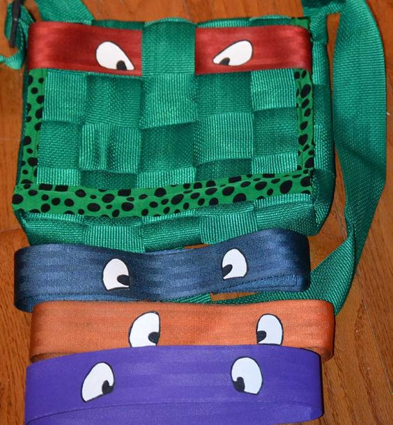 TMNT Teenage Mutant Ninja Turtle Purse with changing masks by 21CannonSalute on Etsy, $50.00