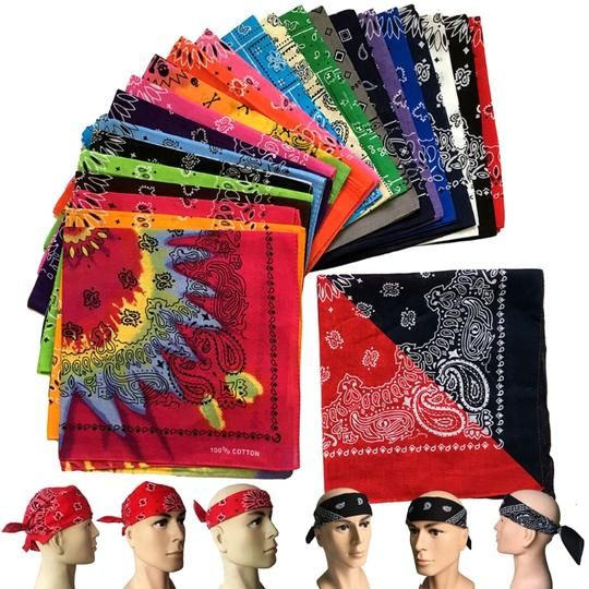 Multicolor Printing Exercise Pirates Hat Biker Bandana Women Mens Head Wrap
