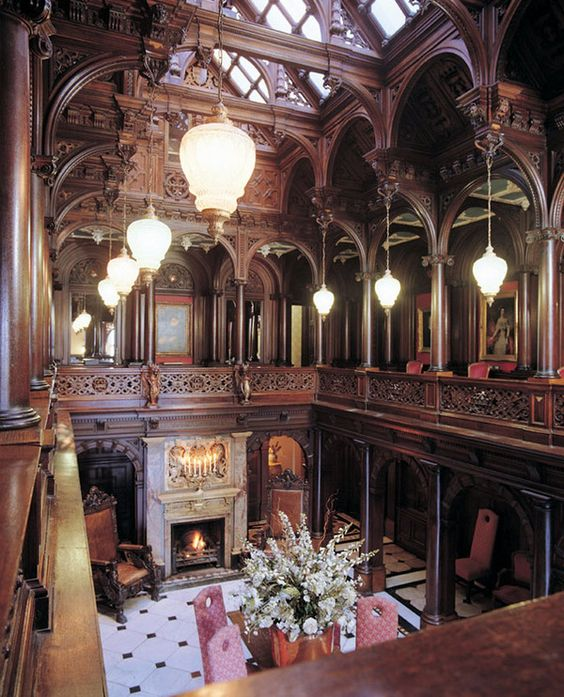 Victorian Architecture...reminds me of the dining room in the original Resident Evil game...