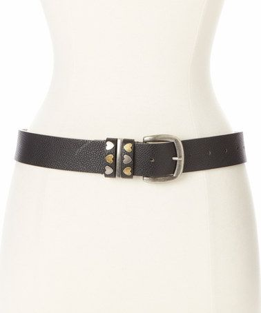 Look what I found on #zulily! Black Heart Belt by Betsey Johnson #zulilyfinds