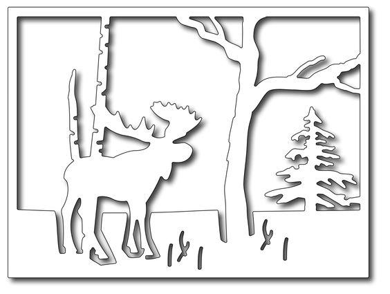 Frantic Stamper - Precision Dies - Moose in the Forest,$25.99