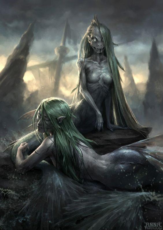Sirène des Enfers - Bestiaire des enfers. A54faebe3bd143be32e5ad292160b088