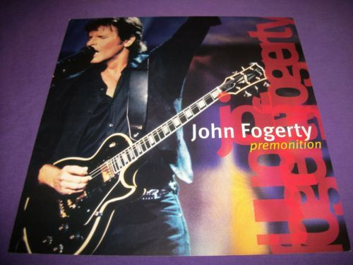 """John Fogerty / Premonition / 1998 Double Sided Promo Poster / 12"""" x 12"""" / CCR"""
