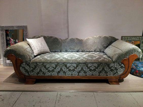 Vintage art deco and art on pinterest for Art nouveau chaise lounge