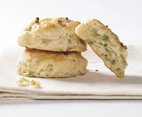 Ramp and Buttermilk Biscuits with Cracked Coriander: