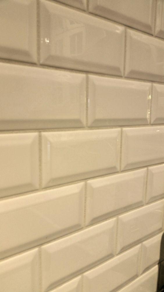 beveled subway tile backsplash tile and tile on pinterest