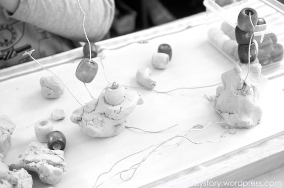Reggio: Using Clay - Wire and Bead Sculptures