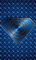 Metalic azul da lanterna Superman ID telefone, KalEl7