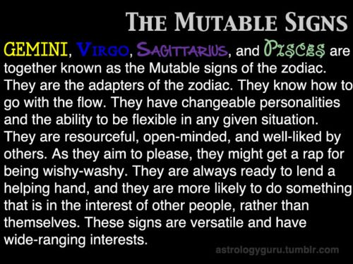 The Mutable Signs