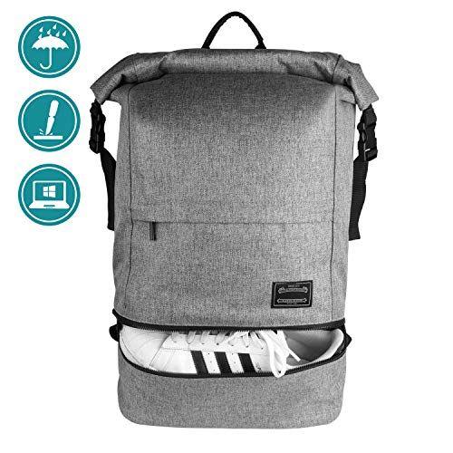 Casual Roll Top Backpack Travel Bag Waterproof Laptop Backpack School Bag