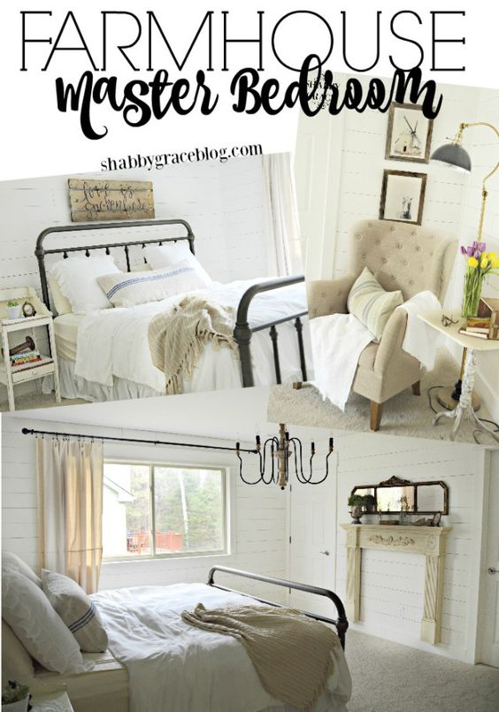 Farmhouse Master Bedroom Master Bedrooms And Pottery Barn Bed On
