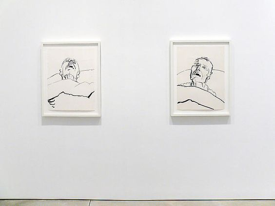 """""""Last Drawings of Christopher Isherwood"""" by Don Bachardy. More sensitive drawings of a sick, elderly loved-one."""