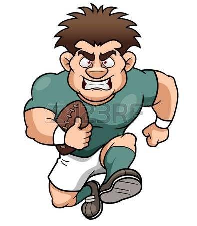 ilustraci�n de dibujos animados El jugador de rugby photo