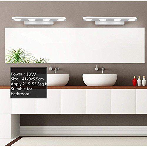 Afsemos 12w Bathroom Vanity Light Modern Make Up Mirror Https Www Amazon Com Dp B07c5pxdlf Ref Cm Sw R Bathroom Mirror Lights Vanity Lighting Led Mirror