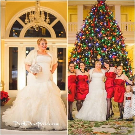 #plussizebride {Real Plus Size Wedding} Winter Wonderland Mad Men Themed Wedding by Sam Hurd Photography  | Pretty Pear Bride | http://prettypearbride.com/real-plus-size-wedding-winter-wonderland-mad-men-themed-wedding-by-sam-hurd-photography/