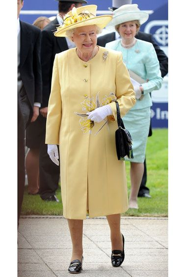 DAY AT THE RACES: 50 YEARS OF HATS & HORSES AROUND THE GLOBE - 2010: Queen Elizabeth II