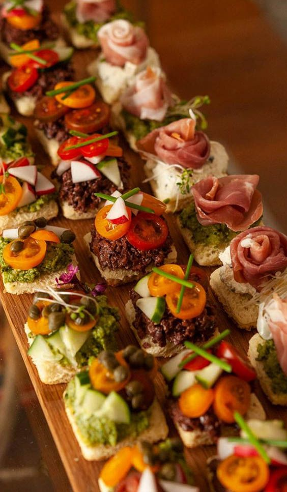 Beautiful Spring Canapes Recipe In 2020 Canapes Recipes Easy Canapes Appetizer Recipes