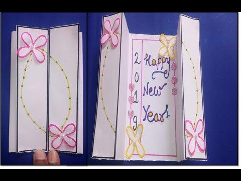 New Year Popup Card Diy New Year Greeting Card For Kids