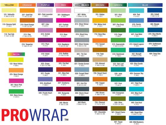Pantone Color Chart With Names | TPX Color Numbers http ...