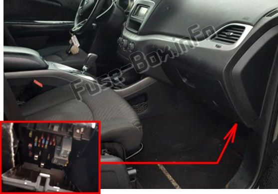 Dodge Journey 2011 2018 Fuse Box Location Dodge Journey Fuse Box Fuse Panel
