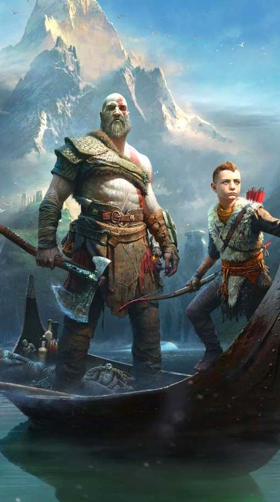 God Of War Kratos And Atreus Game Desktop Wallpaper Kratos God Of War God Of War War