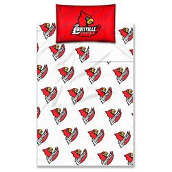 Louisville Cardinals Full Sheet Set $69.99 http://www.fansedge.com/Louisville-Cardinals-Full-Sheet-Set-_-1499932135_PD.html?social=pinterest_pfid23-56400