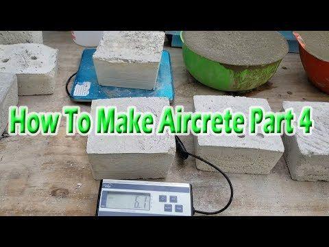 How To Make Aircrete Part 4 Youtube How To Make Papercrete Concrete Forms
