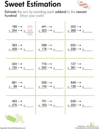 math worksheet : rounding sweet estimation  rounding worksheets and sweet : Estimating With Decimals Worksheets