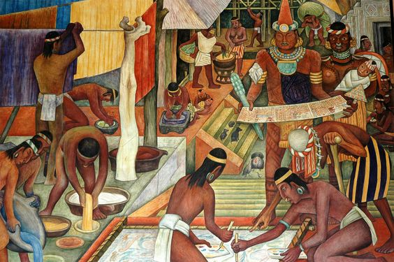 Diego rivera mural diego rivera 14 by mirari erdoiza in for Diego rivera aztec mural