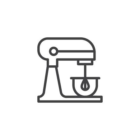 Electric Stand Mixer Line Icon Outline Vector Sign Linear Style Kitchen Icon Instagram Inspiration Posts Line Icon