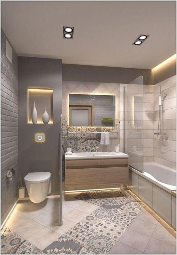 30 Cool Bathroom Lighting Ideas 2020 For Your Stylish Bathroom Dovenda Small Bathroom Remodel Stylish Bathroom Modern Bathroom Design