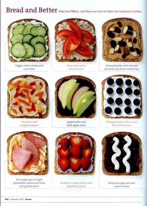 9 different healthy sandwich ideas!