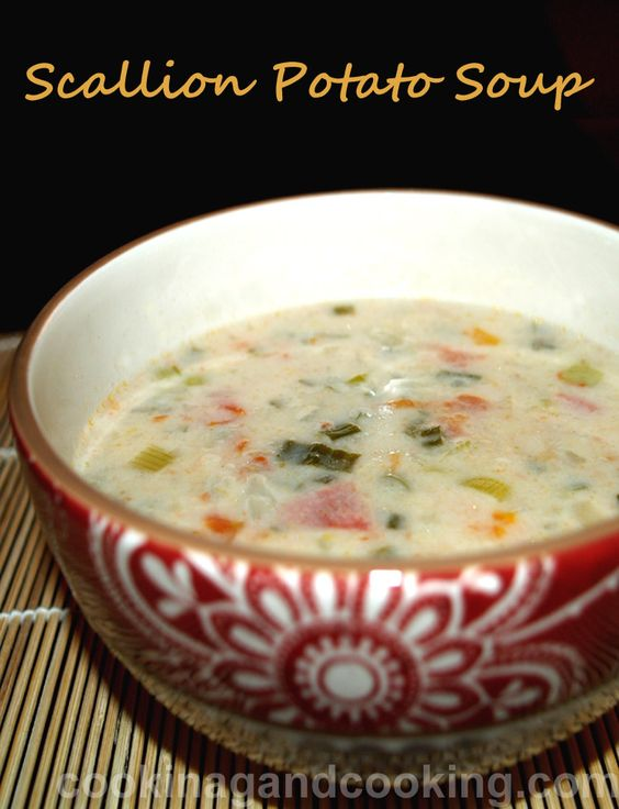This Scallion Potato Soup might be what you're looking for. Try this tasty and simple soup and enjoy! If you are vegetarian, add butter instead of chicken.