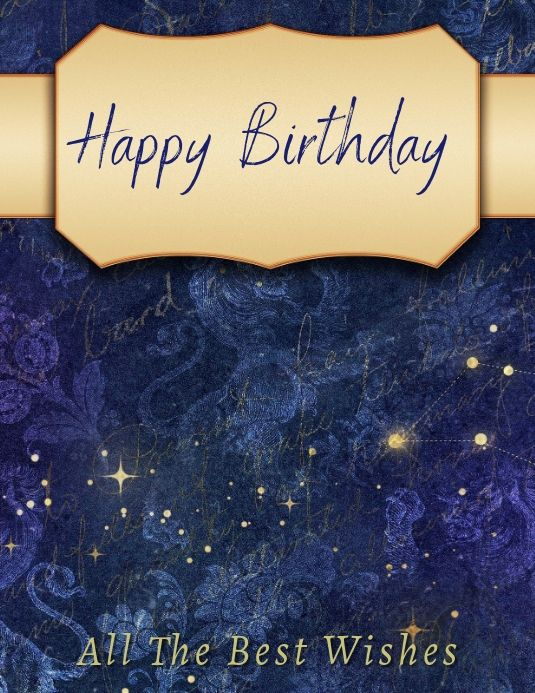 Birthday Card Happy Birthday Card Design Birthday Wishes Birthday Card Template