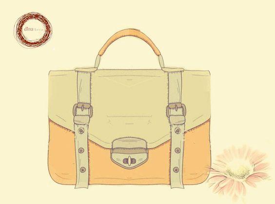 School Bag by FDH #leatehr #vintage #smooth #pastel