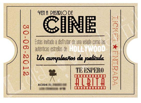 Lola Wonderful_Blog: Diseños personalizados fiestas: Cumple de Cine