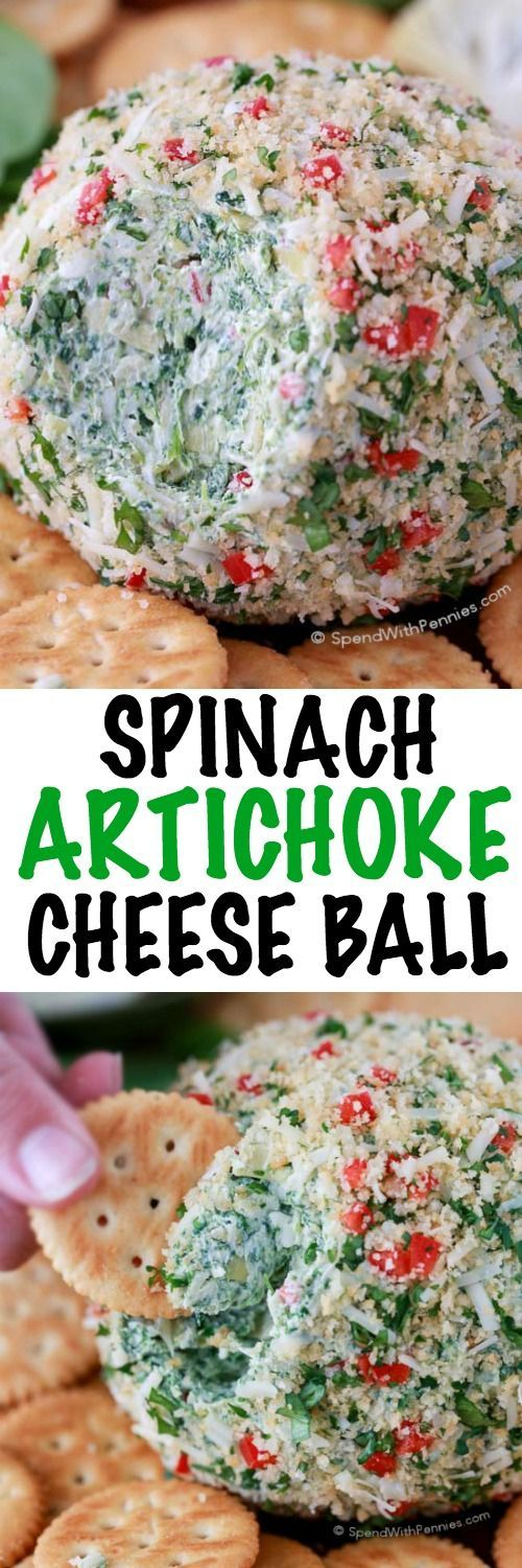 This Spinach Artichoke Cheese Ball recipe will be the star at your ...