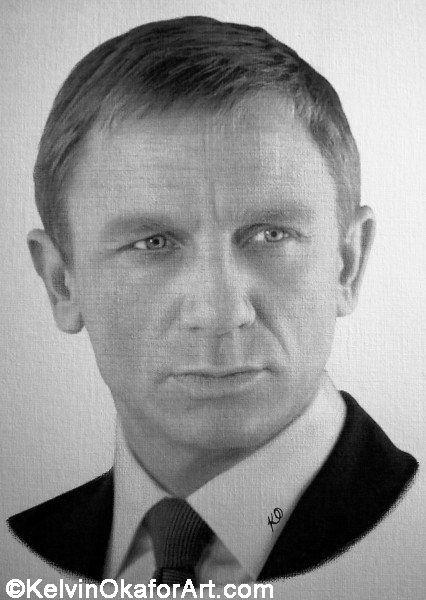 """Daniel Craig"" by Kelvin Okafor:"