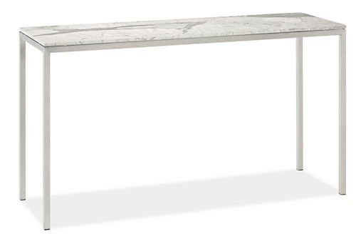LOVE This For Two Console Tables On Either Side Of The Couch. Little Pricy  Though...Portica Custom 34x12 35h Console Table With Marble Top   Clearau2026