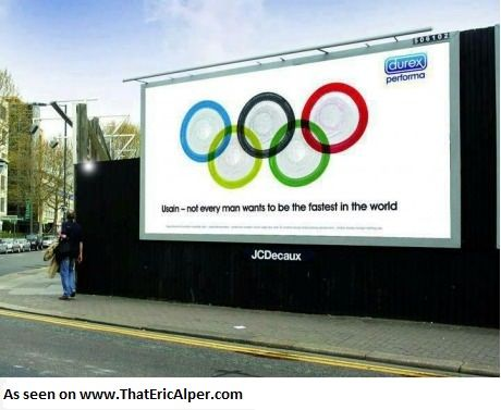 Photo: Durex has a message for Usain Bolt during the 2012 London Olympic Games