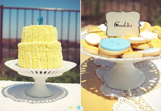 Cute As A Button 1st Birthday Party! | | Kara's Party IdeasKara's Party Ideas
