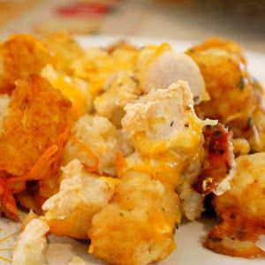 Tater Tot Casserole (Chicken Bacon Ranch and Cheese)