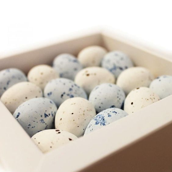 These daintily speckled sugar-shell eggs from Winnow Chocolates are filled with rich hazelnut chocolate praline and have been shrewdly sized so that one feels like a treat, two an indulgence, and three a ticket to the limits of seasonally acceptable gluttony.   http://sorrythanksiloveyou.com/products/view/speckled-eggs-winnow-chocolates