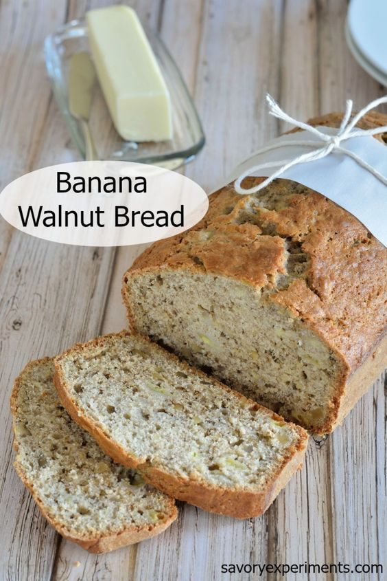 Banana Walnut Bread Recipe- The most moist classic banana walnut bread ...
