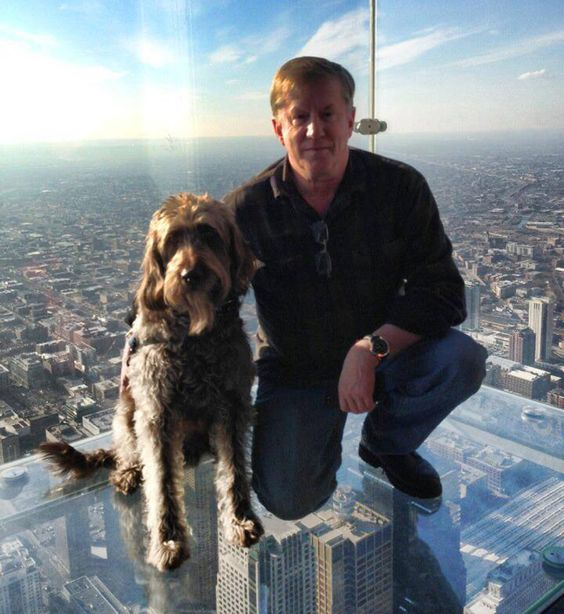Both Hodge and his service dog Gander are scared of heights—but together they face their fear.