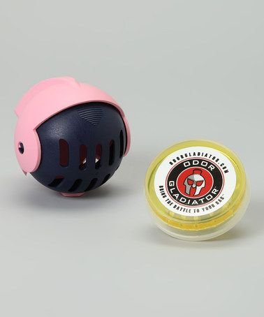 Take a look at this pink amp navy odor ball by odor gladiator on zulily