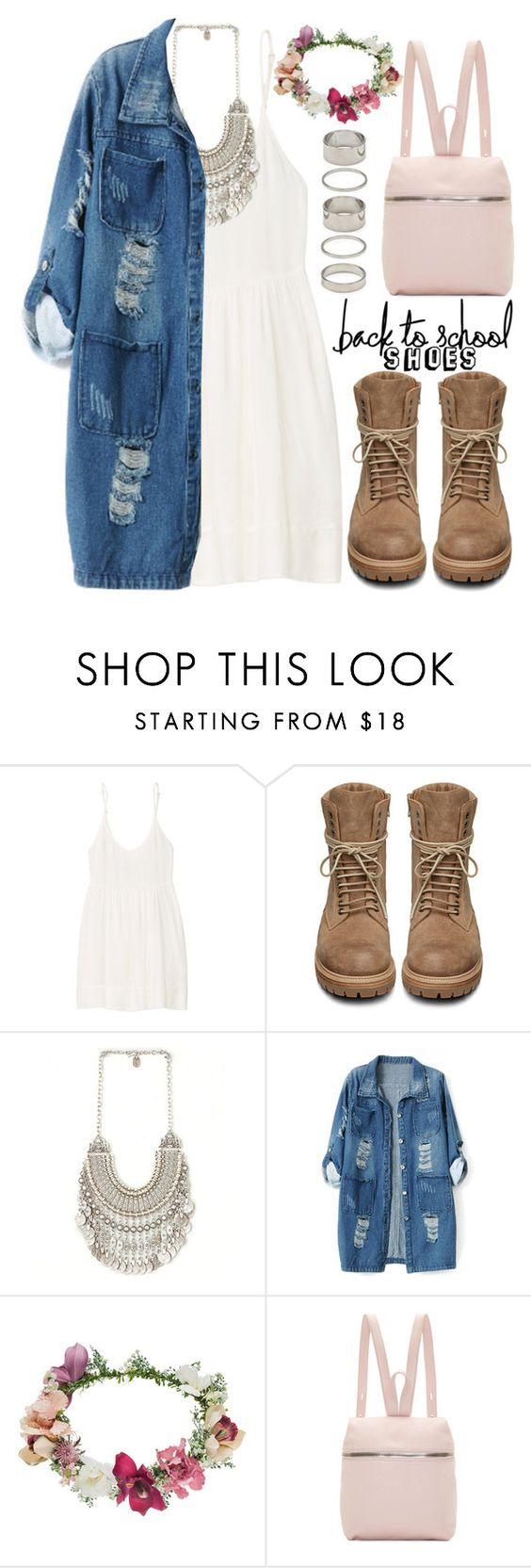 """895."" by asoul4 ❤ liked on Polyvore featuring TNA, Rick Owens, Chicnova Fashion, Topshop, Kara, Forever 21 and BackToSchool"