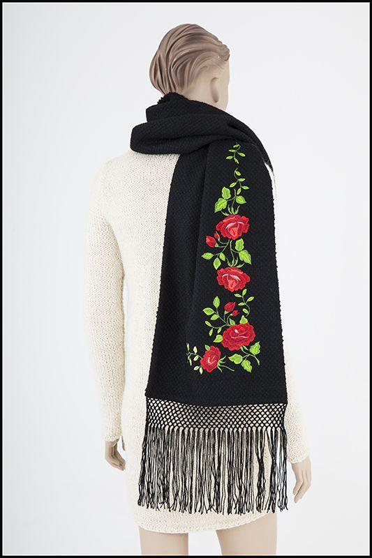 Modern Polish Fashion Design, Inspired by Polish folk fashion- SCARF 0001 Maria Fedro
