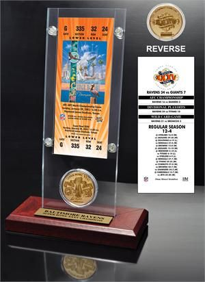 Super Bowl 35 Ticket & Game Coin Collection